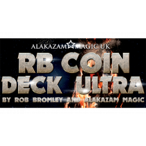 RB Coin Deck Ultra Blue (DVD and Gimmicks) by Rob Bromley