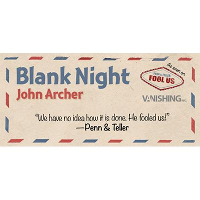 Blank Night (blau) by John Archer