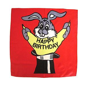"""Happy birthday silk - 45 cm (18"""")"""