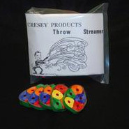 Wurfschlangen farbig (Throw Streamers Cresey rainbow)