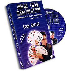 Jumbo Card Manipulations by Cyril Harvey (DVD)