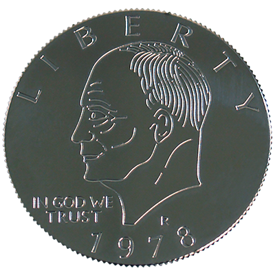 Eisenhower Palming Coin (Dollar Sized) by You Want it We Got it