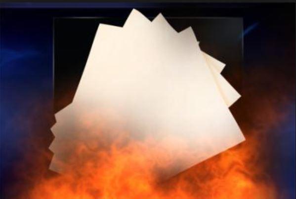 Pyro Papier weiss  (Flash Paper)