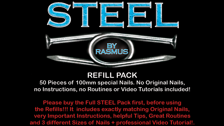 STEEL Refill Nails 50 ct. (100 mm) by Rasmus
