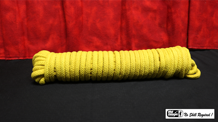 Cotton Rope (Yellow) 50 ft by Mr. Magic /  8 mm 15m