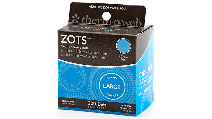 """Sticky Dots Large (1/2"""" Diameter) Roll of 300"""