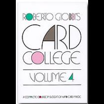 Card College Volume 4 by Roberto Giobbi - Book