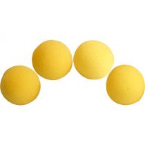 "1.5"" Super Soft Sponge Ball - Schwammbälle  (gelb) Pack 4 by Gosh"