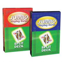 Jumbo Playing Cards - Split (red back)
