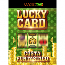 Lucky Card Red (Gimmick and Online Instructions) by Costa Funtastico