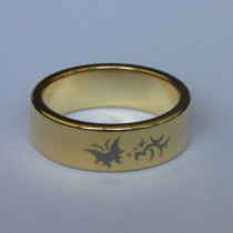 Magnetring - Schmetterling - 21 mm - Gold
