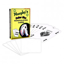 Manipulation Cards-POKER SIZE/WHITE BACK (For Glove Workers) by Trevor Duffy