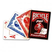 Bicycle Pro Poker Peek Karten (blau)