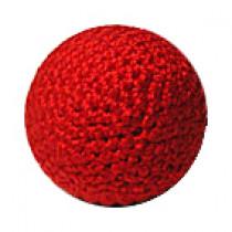 Häkelball rot 2.5 cm (mit Metalleinlage)