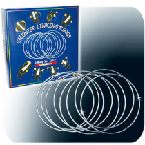 Chinese Linking Rings (12 inch, CHROME) by Vincenzo Di Fatta