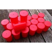 Filmdosen mit Deckel rot/rot