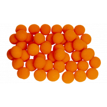 "1.5"" Super Soft Sponge Ball (Pack 50 Schwammbälle orange) 4 cm by Gosh"