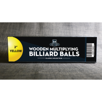 "Wooden Billiard Balls (2"" Yellow) by Classic Collections"