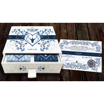 Limited Edition Tulip Playing Cards Set (Dark Blue and Light Blue) by Dutch Card House Company