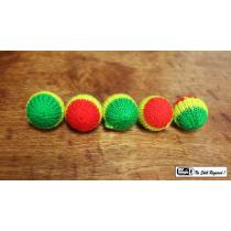 """Häkelball - Crochet 5 Ball Set Multicolor 1"""""""