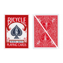 Split Pop Eyed Popper Deck Bicycle (Red)
