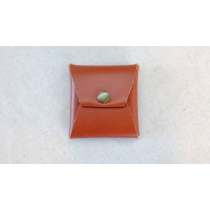 Square Coin case (Brown Leather) by Gentle Magic