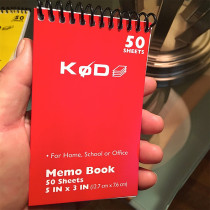 SvenPad® KøD Memo Pad (red cover)