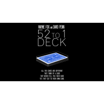 The 52 to 1 Deck BLU (Gimmicks and Online Instructions) by Wayne Fox and David Pen