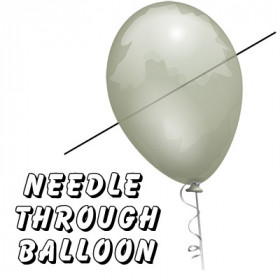 Needle Through Balloon Professional (Nadel durch Balloon) by Bazar de Magia