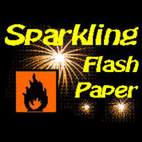Funkelndes Pyro-Papier (weiss)