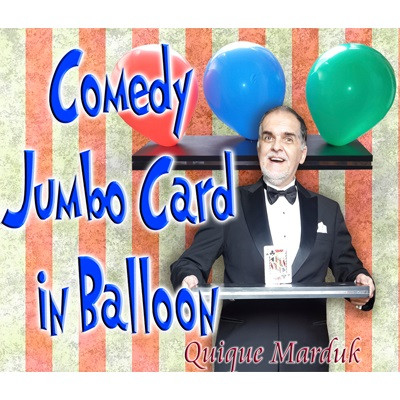 Comedy Card In Balloon by Quique Marduk
