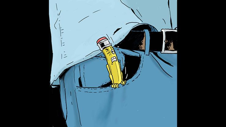 Rising Pencil From Pocket by Armen Škobalj video DOWNLOAD