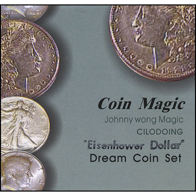 Dream Coin Set EISENHOWER (with DVD) by Johnny Wong Trick