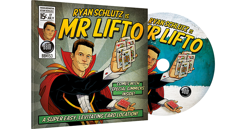 MR LIFTO (DVD and Blue Gimmicks) by Ryan Schlutz and Big Blind Media