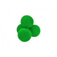4 Super Soft Schwammbälle (Grün) - 7 cm