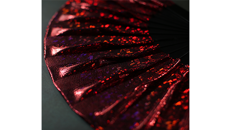 Appearing SnowStorming Fan V2 (Red Hologram) by Victor Voitko (Gimmick and Online Instructions)
