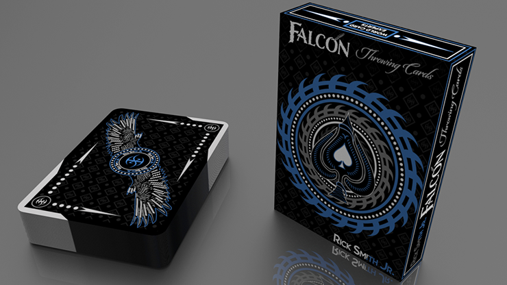 Silver Falcon Throwing Cards by Rick Smith Jr. and De'vo