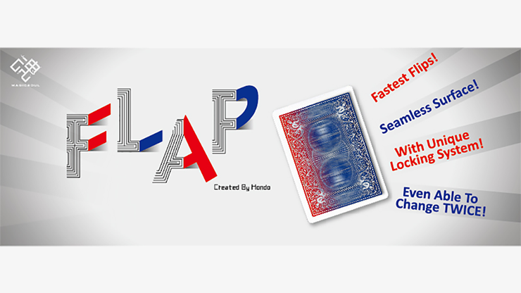 Modern Flap Card Double Sided (KS to QH / BLUE to RED) by Hondo