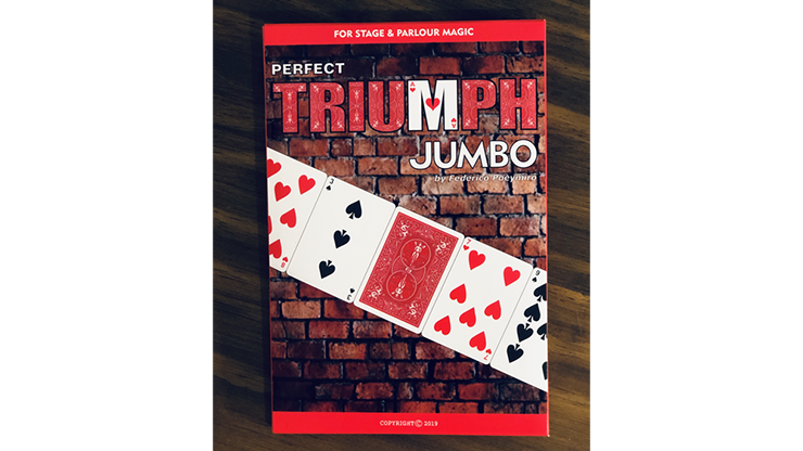 Perfect Triumph JUMBO (Gimmicks and Online Instructions) by Federico Poeymiro