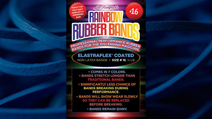 Joe Rindfleisch's SIZE 16 Rainbow Rubber Bands (Hanson Chien - Blue Pack) by Joe Rindfleisch - Trick