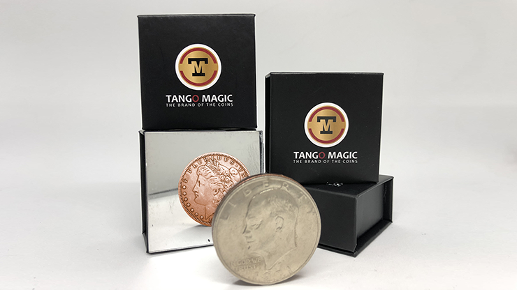Copper Morgan Copper and Silver (Gimmicks and Online Instructions) by Tango Magic