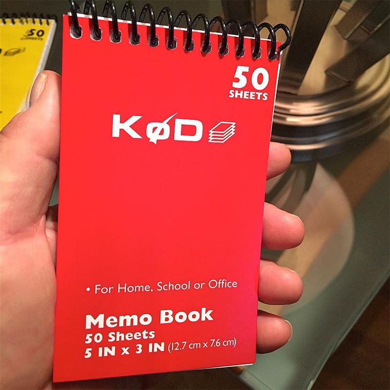 SvenPad® KøD Memo Pad (red cover)