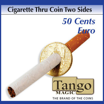 Cigarette thru coin (two sides) 50 Cents Euro by Tango