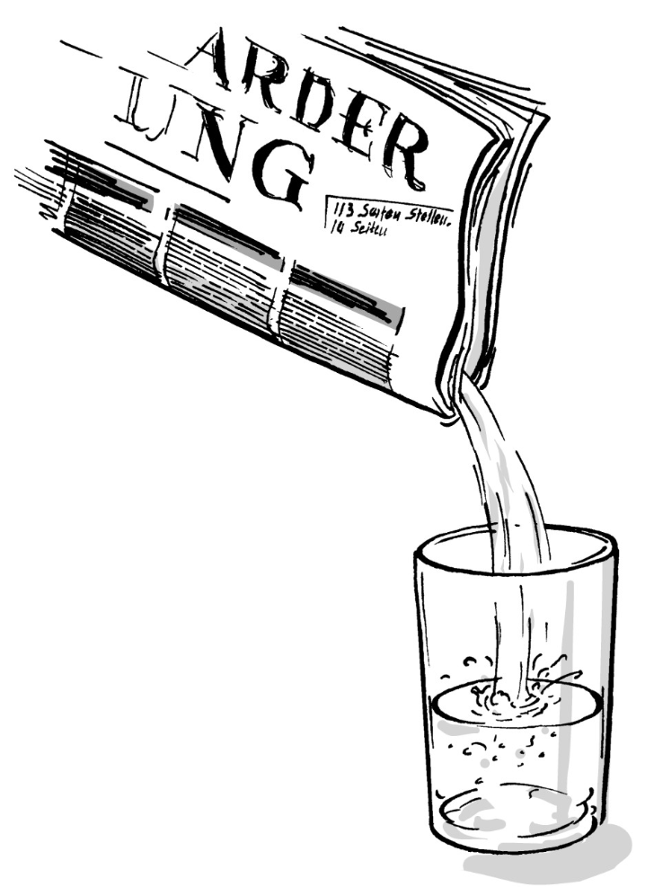 Wasserzeitung Plastikeinlagge