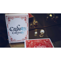 Cardistry Calligraphy (Red) Playing Cards