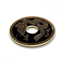 Chinese Coin (Black - 3 inch Jumbo Size) by Royal Magic