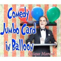 Comedy Card In Balloon by Quique Marduk
