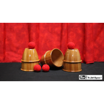 Cups and Balls (Wooden) by Mr. Magic