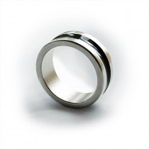 Magnetic Ring - Dark line - Large (20 mm)  /  Magnetischer Ring