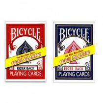Bicycle 100% Plastik Karten blau